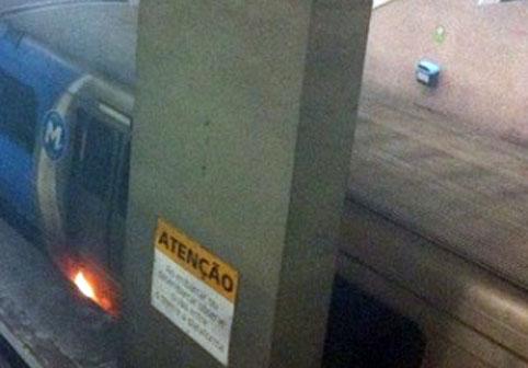 Incêndio no metrô do Rio - 07/08/2012