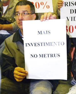 A melhoria do Metrus faz parte das reivindicações da categoria