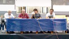 Mesa da assembleia realizada em 05/02/2013
