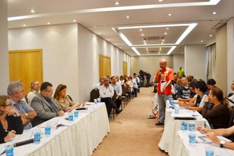 Primeira reunião de negociação da Campanha Salarial 2013, realizada em 3 de maio.