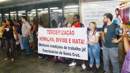Atos em solidariedade aos trabalhadores terceirizados fazem atos nas estações Luz e Santa Cruz