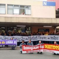Metroviários contra a privatização
