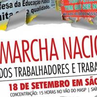 18 de Setembro é o dia da MARCHA NACIONAL DOS TRABALHADORES E TRABALHADORAS