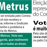 Participe das eleições do Metrus