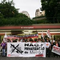 Ato contra a privatização do metrô – 22/10/2015