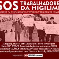 Campanha solidária: SOS trabalhadores da Higilimp