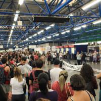 Ato na estação Palmeiras-Barra Funda