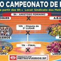 Final do campeonato promete agitar o Sindicato dia 17/12