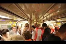 Protesto relâmpago em trens no Dia Nacional de Lutas e Paralisações – 25/11/2016