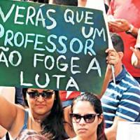 Apoio às greves dos professores municipais e estaduais