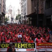 Contra reformas trabalhadores vão às ruas dia 20