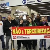 Ato contra a terceirização e a privatização – Est. Ana Rosa
