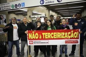 METRVIÁRIOS ATO CONTRA A TERCEIRIZAÇÃO E A PRIVATIZAÇÃO - 19/07/2017