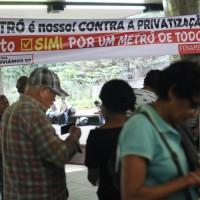 Plebiscito em defesa do metrô