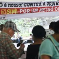 Plebiscito em defesa do metrô público é lançado