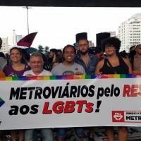 Metroviários participam de ato contra a homofobia