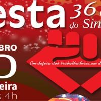 Festa dos 36 anos do Sindicato em novembro