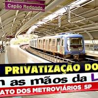 Dia 19/1 todos no ATO PÚBLICO contra a privatização da Linha 5 e 17!