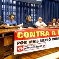Não ao corte do orçamento do Metrô! Retomada das obras da L-6! Não à privatização!