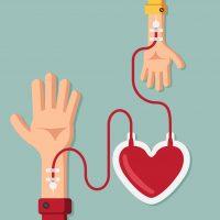 Doe sangue para a companheira Josyana