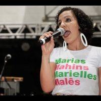 Camila Lisboa (chapa 3) falou em cerimônia de posse da diretoria do Sindicato dos Metroviários