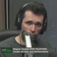 Entrevista com Wagner Fajardo, coordenador geral do Sindicato, sobre o coronavírus no metrô