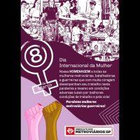 8 de março: Dia de Luta das Mulheres