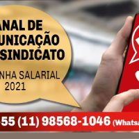 Inclua o contato do Sindicato e receba informações pelo WhatsApp