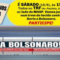 ATO EM 19/6: FORA BOLSONARO!